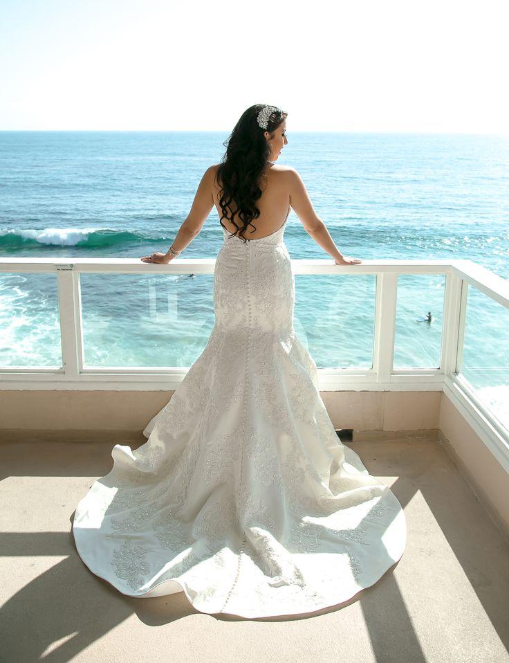 True Honest Fashion: My Wedding Day ~ Part 1  Oleg Cassini Wedding Dress from Davids Bridal  Location Laguna Beach
