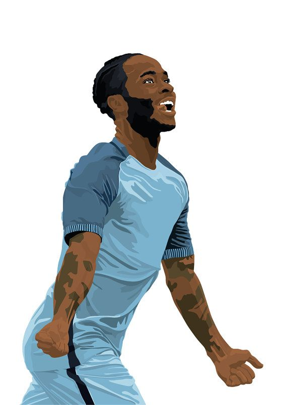 Raheem Sterling A3 Poster: 297mmx420mm Manchester by EntireDesign