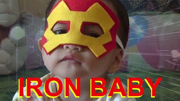 DIY IRON BABY - How To Make Iron Man Mask - Felt Craft For Kids - Flanel...