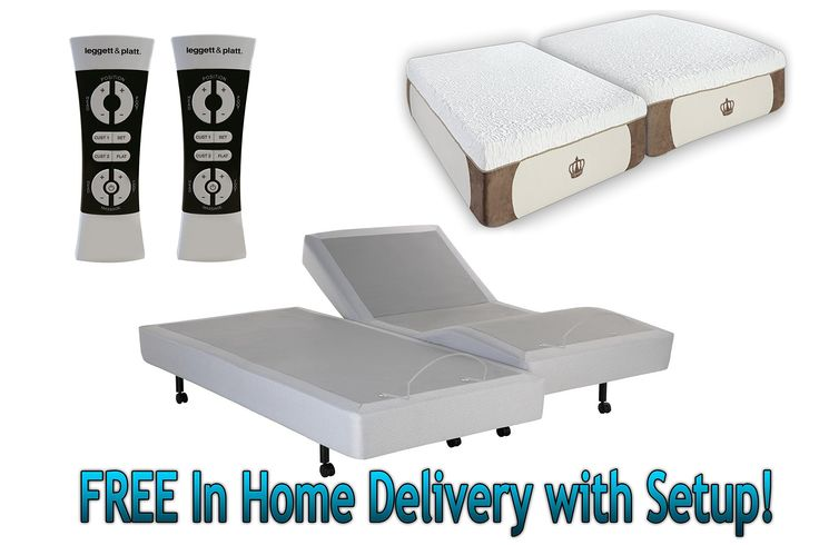 DynastyMattress 12 Inch Split-King S-Cape Adjustable Bed Set Sleep System Leggett & Platt with CoolBreeze Gel Mattress-FREE in Home Delivery with Setup