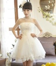 ミニドレス カラードレス 二次会 ウェディングドレスミニ シ:a-a1259:vivia - Yahoo!ショッピング - ネットで通販、オンラインショッピング