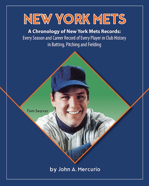 Author John Mercurio released the first of the 30 most comprehensive baseball team record books ever published.  #SLTShow #Mets #NewYork #baseball #Cubs #RedSox #retail #etail #mtail #licensing