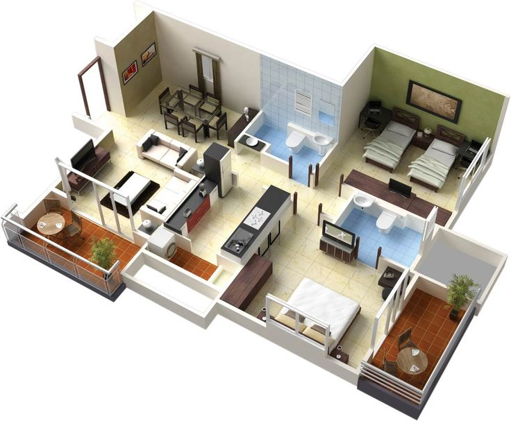 Nice 3d House Blueprints And Plans With Free 3d Building Plans