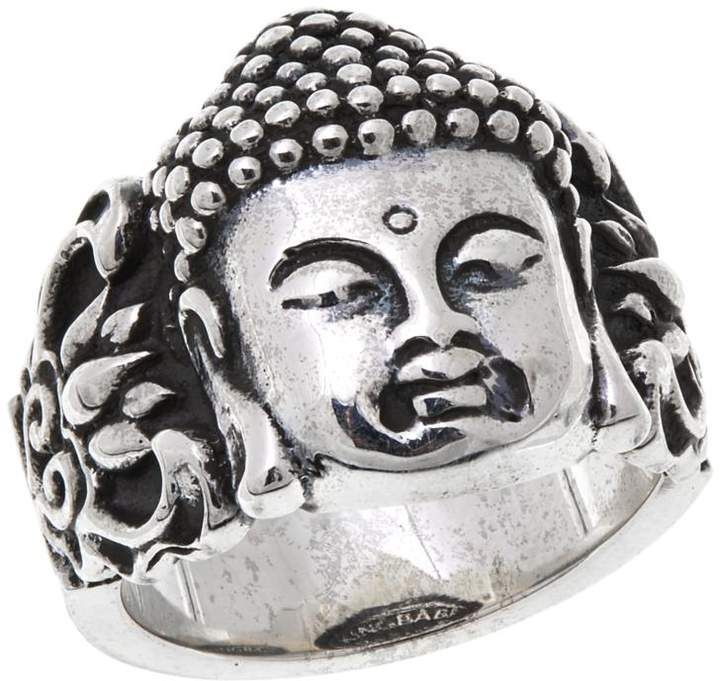King Baby Jewelry Sterling Silver Buddha Face Women's Ring
