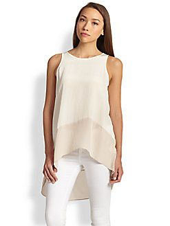 Eileen Fisher - Jewelneck Silk Tunic