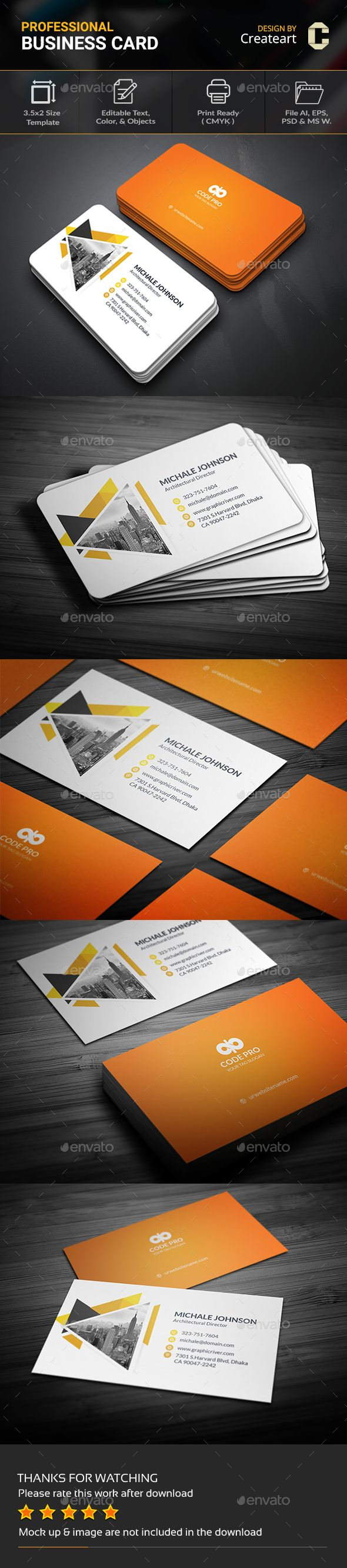 Corporate Business Card — Photoshop PSD #designer #business card • Available here → https://graphicriver.net/item/corporate-business-card/20220889?ref=pxcr