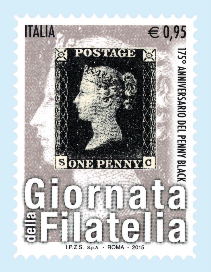 """Giornata della #Filatelia. La serie di francobolli dedicata all'evento riprende i temi caratterizzanti di quest'anno: i due progetti """"Filatelia e Scuola"""" e """"Filatelia nelle Carceri"""" e il 175° anniversario dell'emissione del """"Penny Black"""", il primo francobollo della storia."""