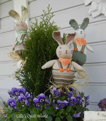 Ulla's Quilt World: Easter bunny handmade by Ulla's Quilt World