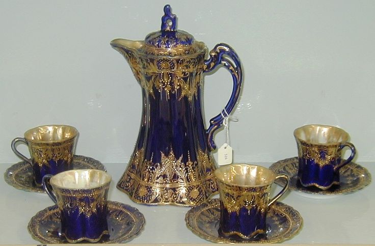 Antique Nippon Porcelain Hand Painted Hot Chocolate Set