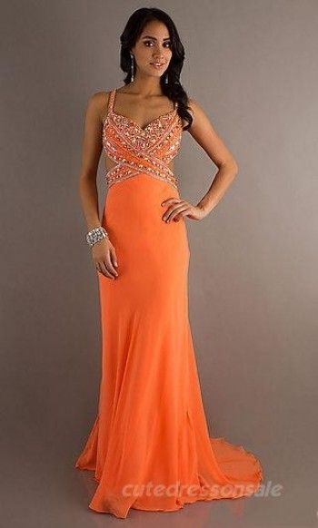 10 Best ideas about Orange Prom Dresses on Pinterest  Pretty ...
