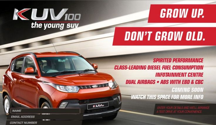#Mahindra #KUV100 launches in South Africa tomorrow