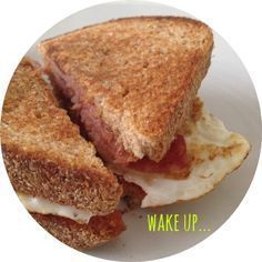 what // bacon & fried egg on granary bread, with smokey bbq sauce (or ketchup, or both!) where // your very own home! why // a classic hangover cure and/or bank holiday treat tip! // once you've assembled your sandwich, lightly fry each side in the fat le
