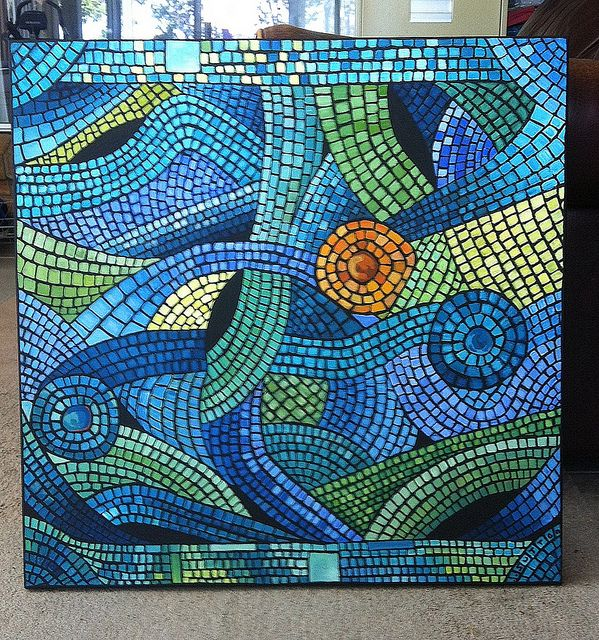 mosaic painting 2013 by DSDesigns (Debra Sutton), via Flickr