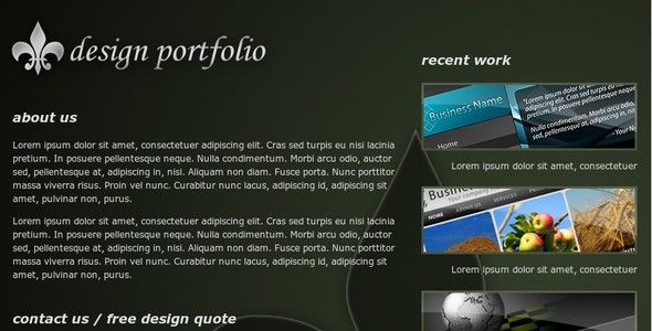 One Page Design Portfolio   http://themeforest.net/item/one-page-design-portfolio/24873?ref=damiamio       A clean one page design portfolio for designers, photographers, or anyone else showcasing their design work. XHTML / CSS based.   This template makes use of Light Box in an easy to update and manage fashion. All necessary files are included to input your portfolio items (include as many as you'd like).   This template is Valid XHTML .     Created: 27December08 LastUpdate: 27December08…