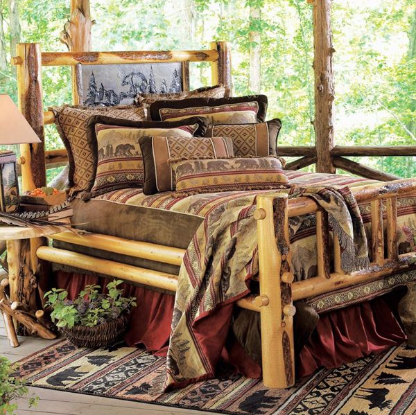Woodideas Sheet Rock And Cabin Bedroom: Bear Chenille Suede Bed Set