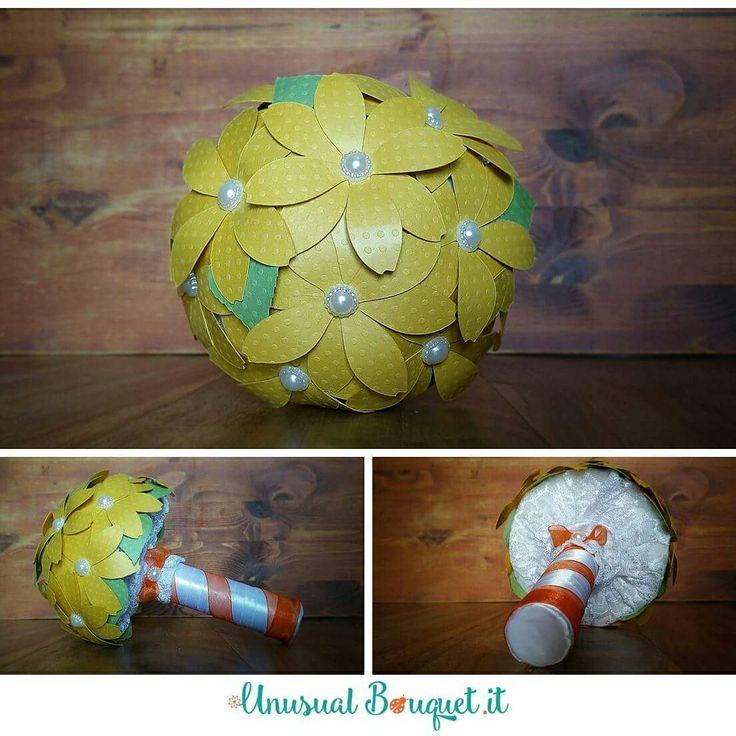 Bouquet da lancio semplice  www.unusualbouquet.it   #bouquet #fattiamano  #handmade #alternativebouquet #bouquetalternativo #bouquetbottoni #bouquetfattoamano #bouquetsposa #bouquetbride #wedding #matrimonio #accessorimatrimonio  #bouquetrose