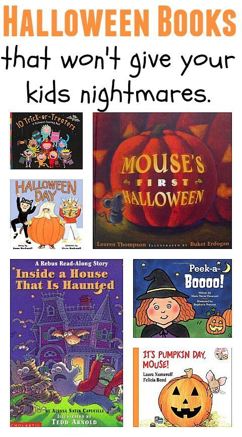 Halloween books that won't give students nightmares! This is a great list of books for students who are frightened by the typical Halloween books.