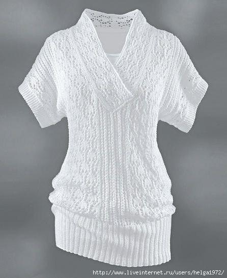 "Knitting - Free Pattern: ""Tunic"" - Level: easy."