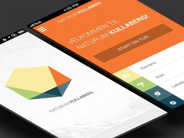 Kullaberg mobile application by Andreas Ubbe Dall (Copenhagen, Denmark)