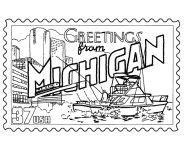 USA-Printables: State of Michigan Coloring Pages - Michigan tradition and culture coloring pages