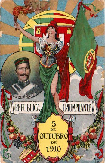 5 OUTUBRO - A Implantação da República Portuguesa foi o resultado de uma revolução organizada pelo Partido Republicano Português, iniciada no dia 2 de outubro e vitoriosa na madrugada do dia 5 de outubro de 1910, destituiu a monarquia constitucional e implantou um regime republicano em Portugal.