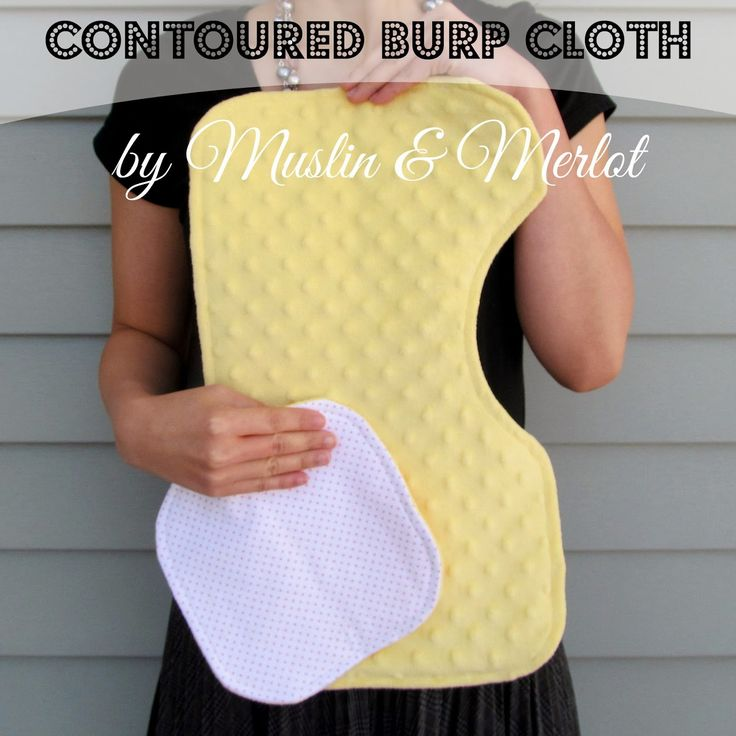 Contoured Burp Cloths by Muslin & Merlot