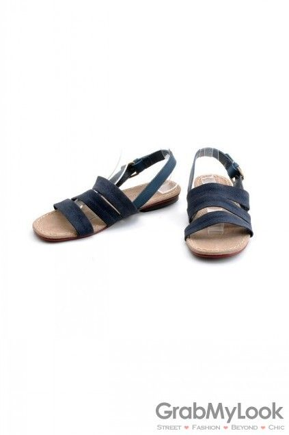 GrabMyLook Suede Leather Tri Straps Mens Roman Gladiator Sandals