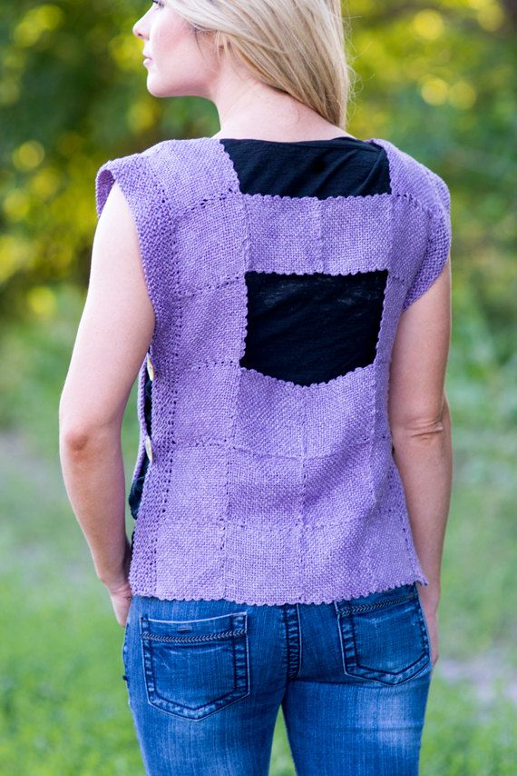 PDF Pattern for Tabard Vest made with Knitting by ZoZoFiberArts