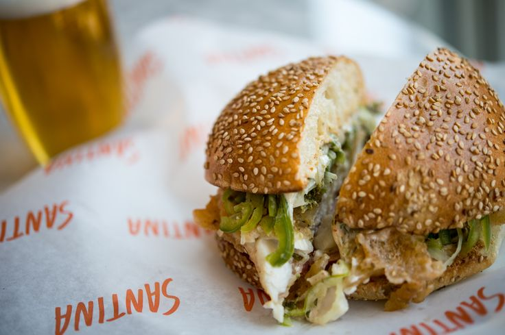 The fish sandwich at Major Food Groups Santina in Meatpacking.  Photo by Daniel Krieger.
