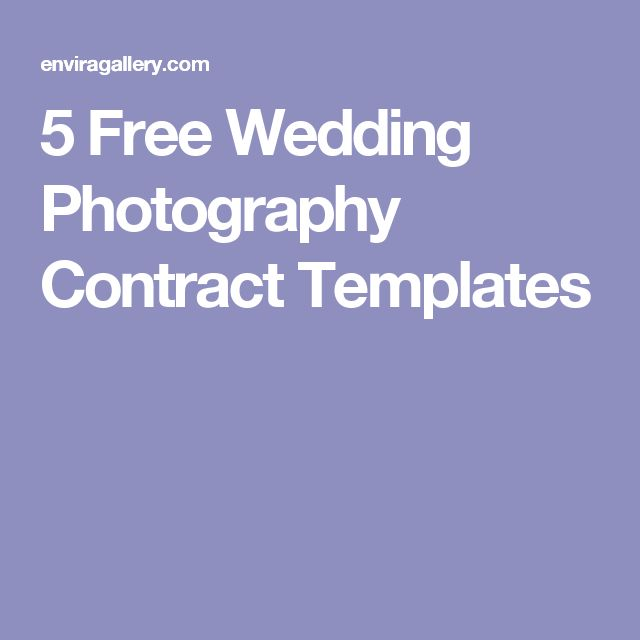 5 Free Wedding Photography Contract Templates