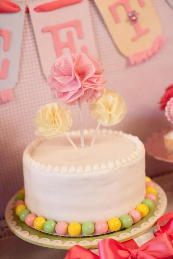 Girly Gingham Party via Karas Party Ideas | KarasPartyIdeas.com #girly #gingham #pink #party #ideas (9)