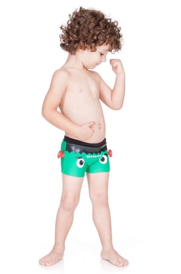 Sunga Infantil Franstein Boxer Lycra - Cara de Criança. #coleção2015