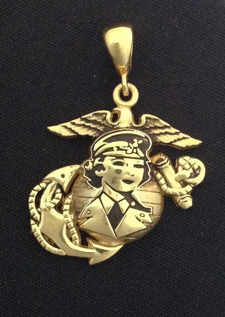 Women Marine Yellow Gold Pendant