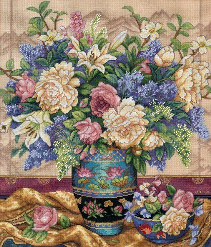 Dimensions Gold Collection Oriental Splendor Counted Cross Stitch Kit: 12x14 Dimensions Crafts http://smile.amazon.com/dp/B004D4Q4YA/ref=cm_sw_r_pi_dp_LwEVub1W80PHE