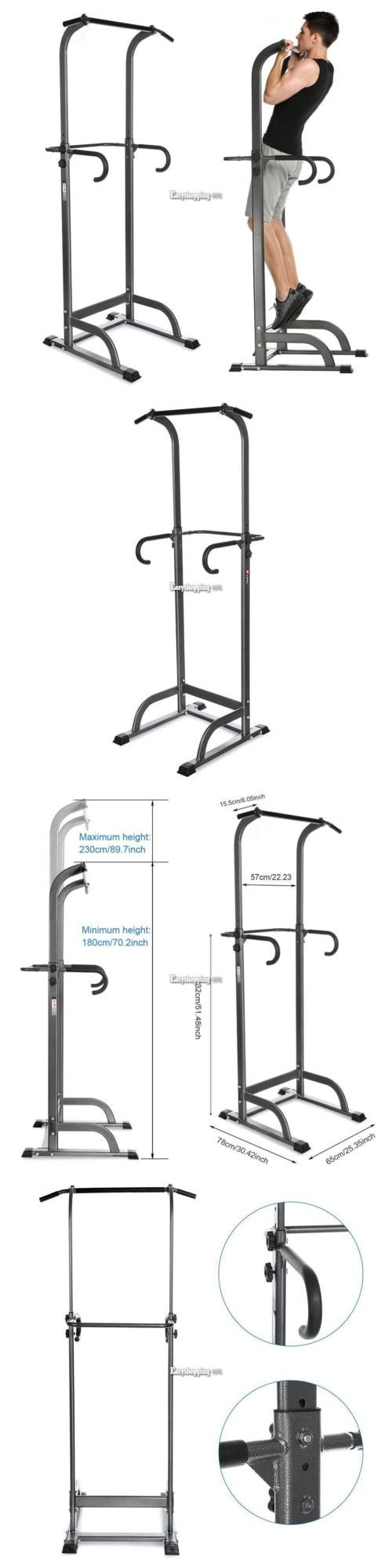 Push Up Stands 158925: Height Adjustable Power Tower Pull Up Chin Up Bar Exercise Fitness Gym Home Es9p -> BUY IT NOW ONLY: $107.33 on eBay!