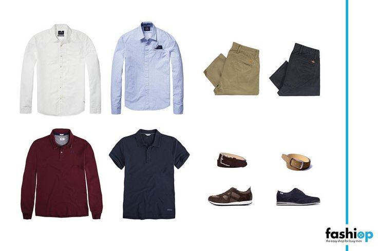 """[FASHIOP PEOPLE]  Economista, CEO y muy """"instafoodie"""". ¡Mañana desvelamos nuestro #FashiopMan de Septiembre! 😉👔 Nuestras #personalshoppersonline se inspiran en él con el siguiente #look:  Camisas Scotch & Soda · Pantalones Dockers· Polos Pepe Jeans London · Cinturones LEYVA· Sneakers MUNICH · Zapatos Pikolinos"""