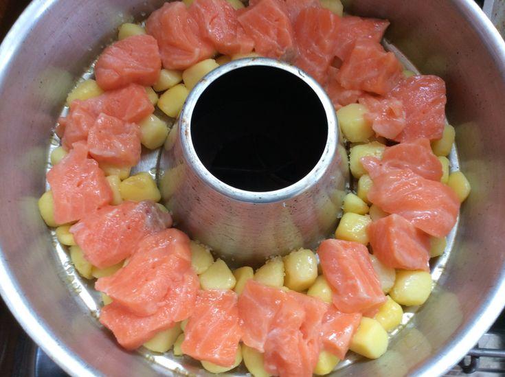 Casserole de Saumon Courgette à Omnia   – Omnia