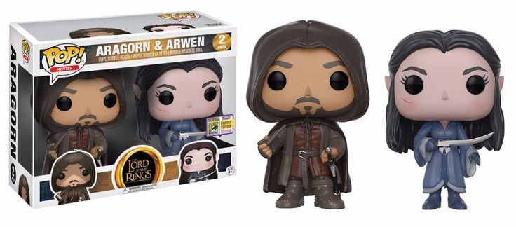 FUNKO POP! LOTR ARAGORN & ARWEN 2-Pack Exclusive Limited Edition  #funko #funkopop #lotr #thelordoftherings