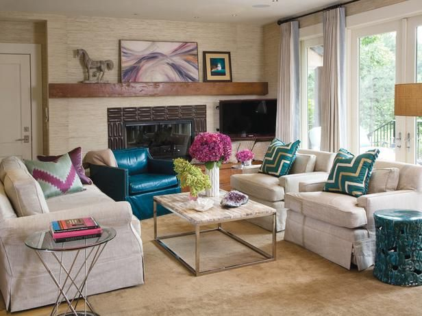 Love colors: Furniture Arrangement, Living Rooms, Traditional Living Room, Design Trends, Colors, Livingroom, Interiors Design, Home Decor, Transitional Living Room