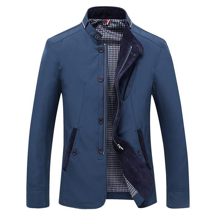 BOYUAN Men Jacket Coat Long Section Fashion Coat Jaqueta Male Veste Homme Brand Casual Fit Overcoat Jacket Outerwear Men DB9801