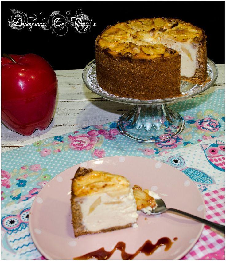 Desayunos en Tiffany´s: Cheesecake de yogur con manzana