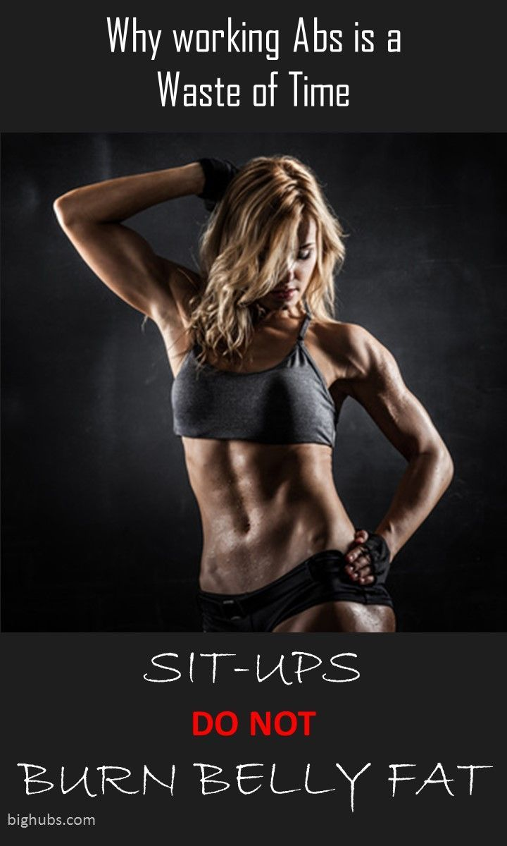 Sit-ups and crunches do nothing for you if your trying to get a flat tummy and slim down your waist. I see far to many people at the gym pounding out leg raises and crunches for nothing. There is a place for ab exercises, but most people are just wasting time thinking this will give them a six pack.  healthandfitnessnewswire.com