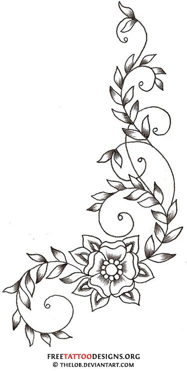 vine-flower-tattoo.jpg (374×740)