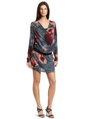 D.E.P.T. Womens Flower Long Sleeve Dress