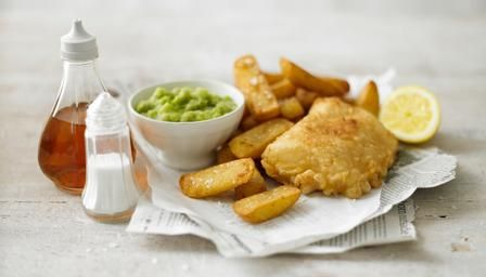 The English classic:  Fish and chips