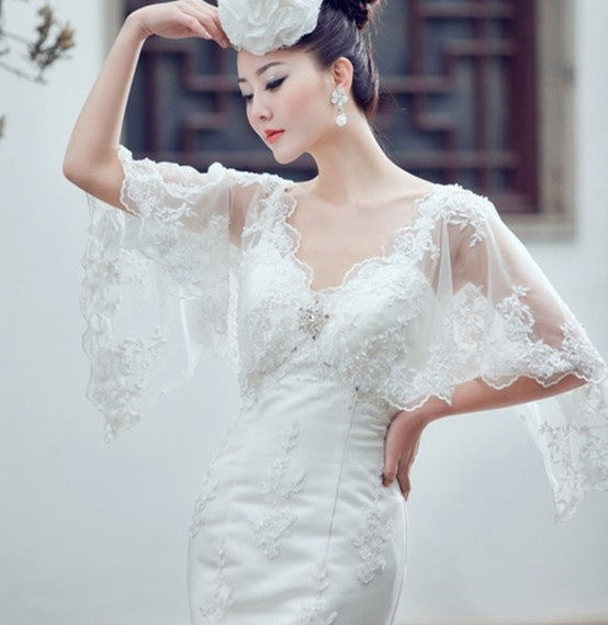 Filipiniana Wedding Gown: Filipiniana Inspired Butterfly Sleeves Wedding Dress