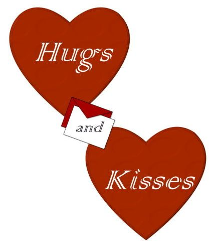 Hugs and kisses as used at the end of a written letter, email or in a  SMS text message. Description from pixgood.com. I searched for this on bing.com/images