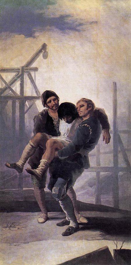 The Injured Mason 1786 1787  Museo Del Prado Madrid  Francisco de Goya