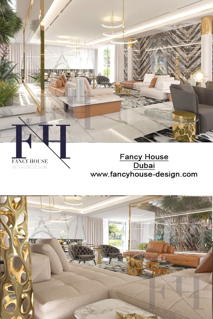 Bespoke interiors for a house in gold shades the interior design is created by desingners of fancy house design company in uae interiorides