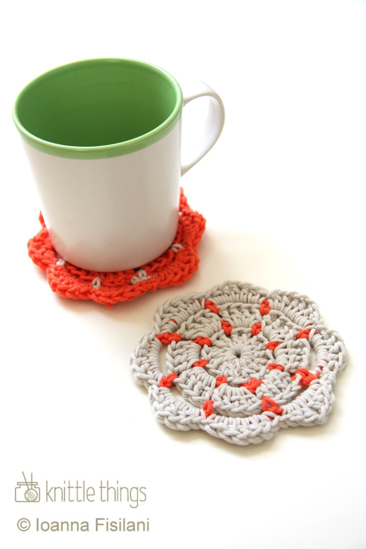 Knittle Things crochet coasters | cotton